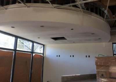 t-bar ceiling and drywall work in progress